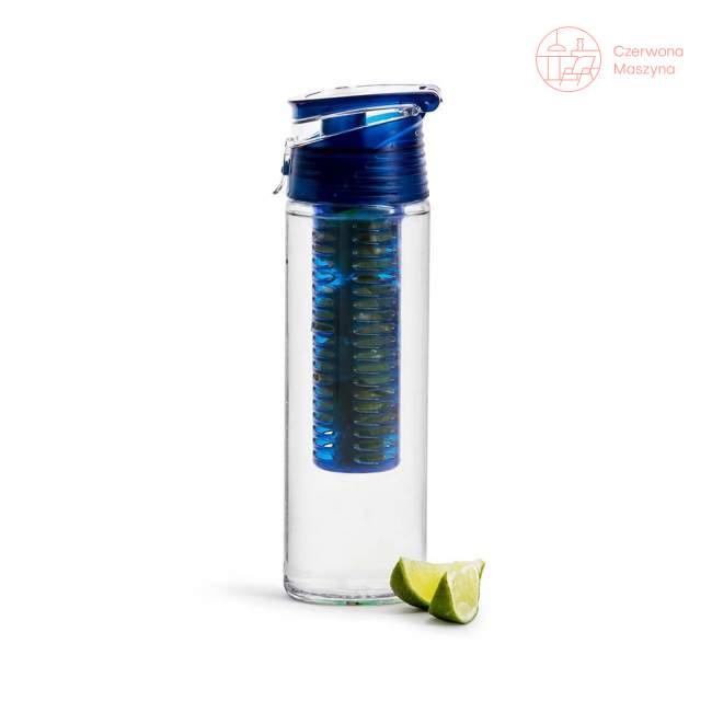 Bidon z pojemnikiem na owoce / lód Sagaform Fresh 750 ml, niebieski