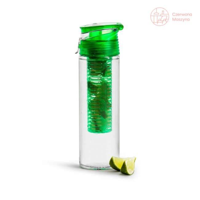 Bidon z pojemnikiem na owoce / lód Sagaform Fresh 750 ml, zielony
