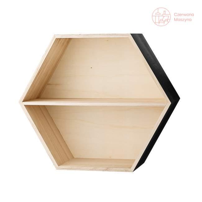Półka Bloomingville Hexagon, z czarnymi elementami