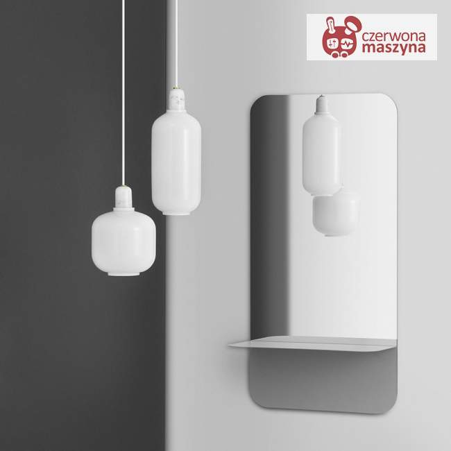 Lampa wisząca Normann Copenhagen Amp podłużna, biała