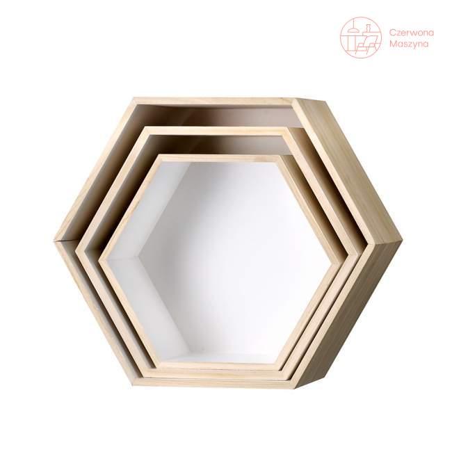 3 Półki Bloomingville Hexagon Białe