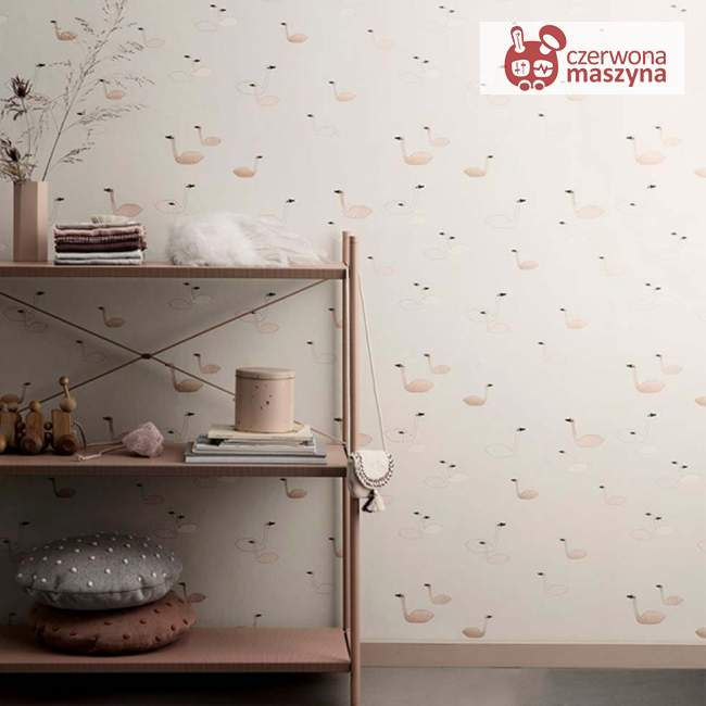 Tapeta ferm LIVING Swan Rose