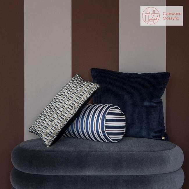 Tapeta ferm LIVING Thick Lines Bordeaux/Grey