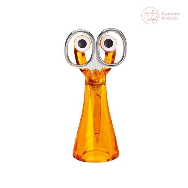 Nożyczki ze stojakiem Koziol Mini Edward pomarańczowe