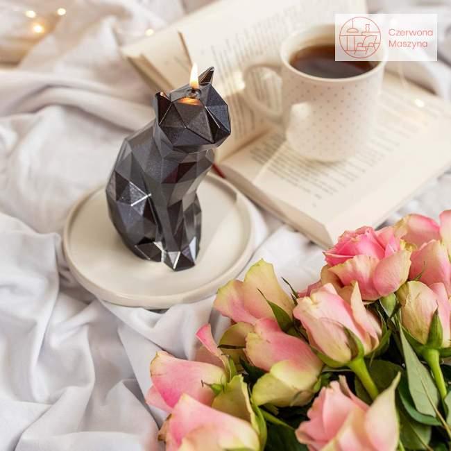 Świeca All's Candle kot, czarny