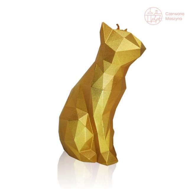 Świeca All's Candle kot, złoty