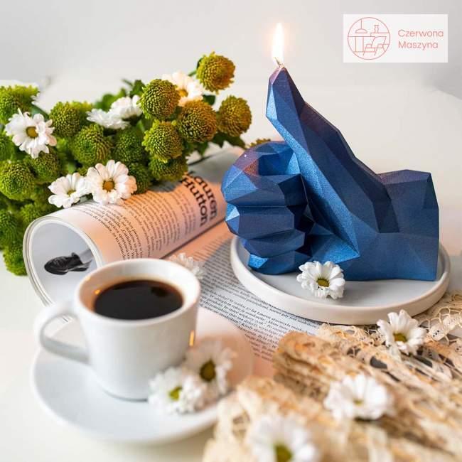 Świeca All's Candle O.K, niebieski