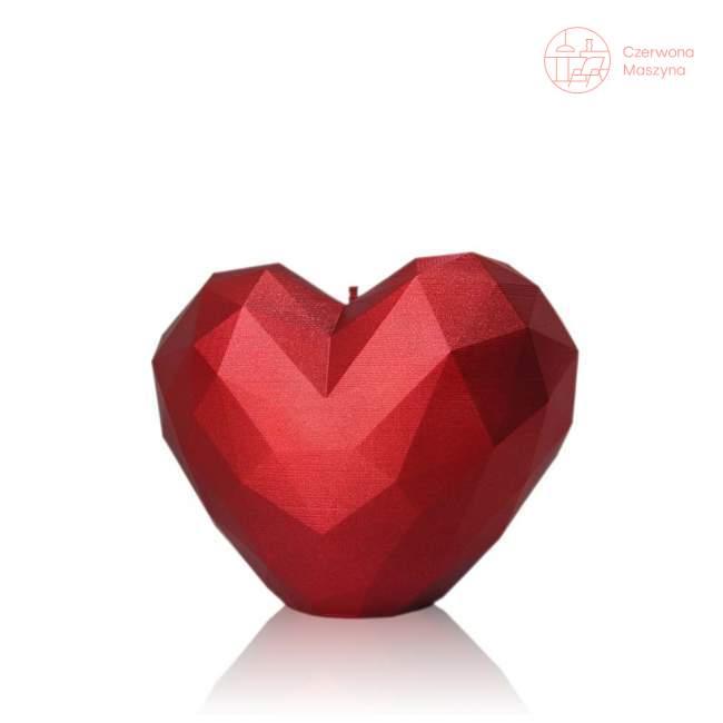 Świeca All's Candle serce, czerwony