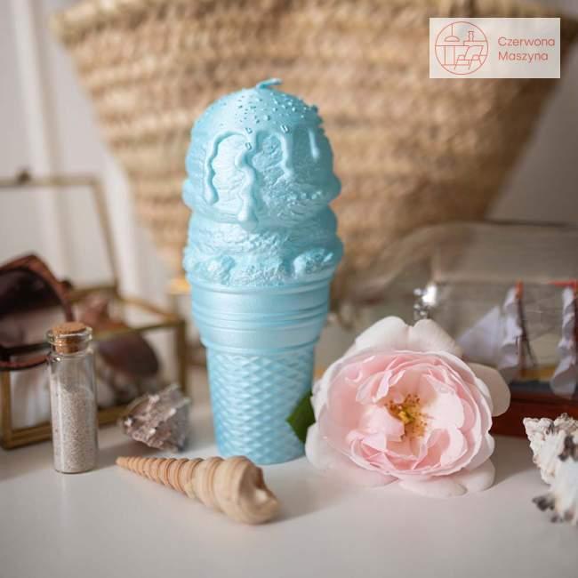 Świeca All's Candle lody, perłowy błękit
