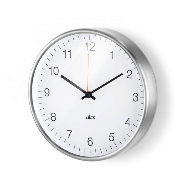 Zegar ścienny Zack Palla Ø 24 cm biały