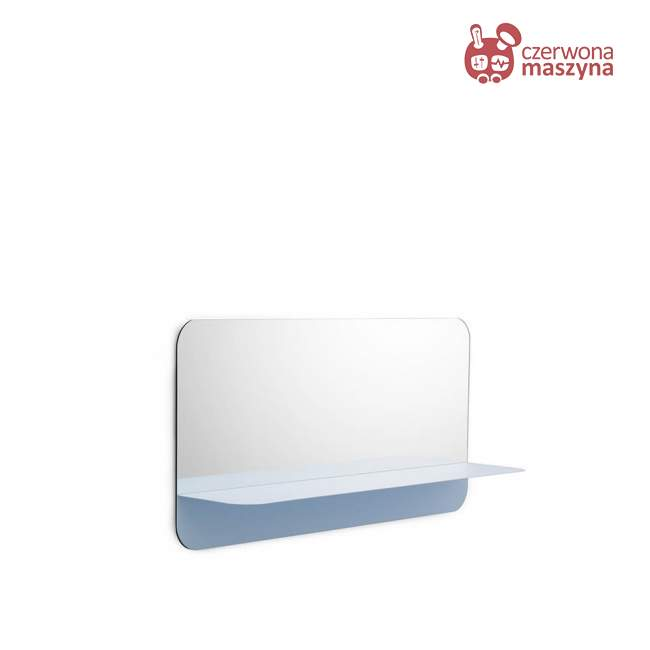 Lustro wiszące Normann Copenhagen Horizon 40 cm, błękitne