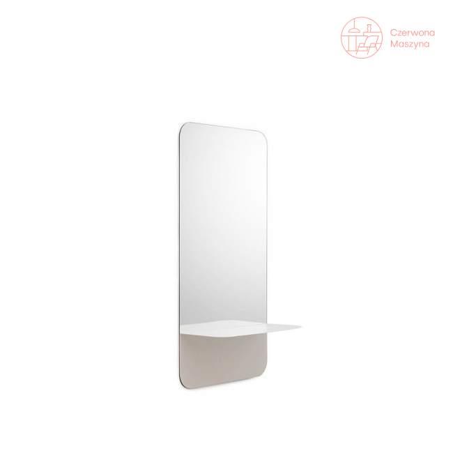 Lustro wiszące Normann Copenhagen Horizon 80 cm, białe