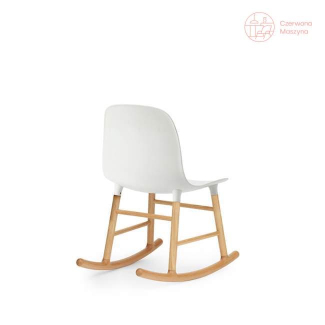 Krzesło bujane Normann Copenhagen Form dąb, białe