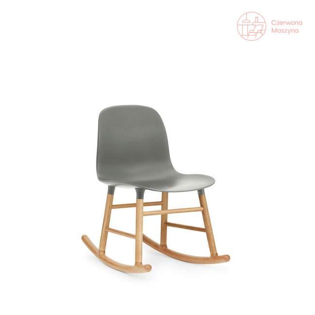 Krzesło bujane Normann Copenhagen Form dąb, szare