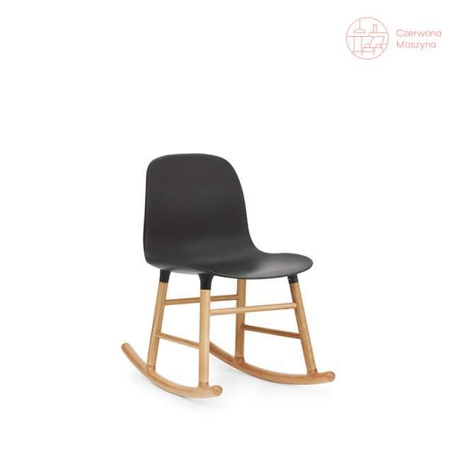 Krzesło bujane Normann Copenhagen Form dąb, czarne