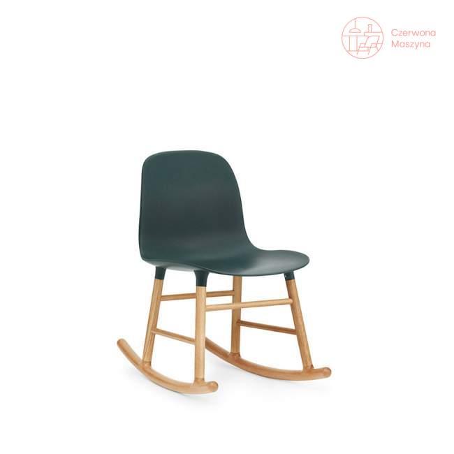 Krzesło bujane Normann Copenhagen Form dąb, zielone