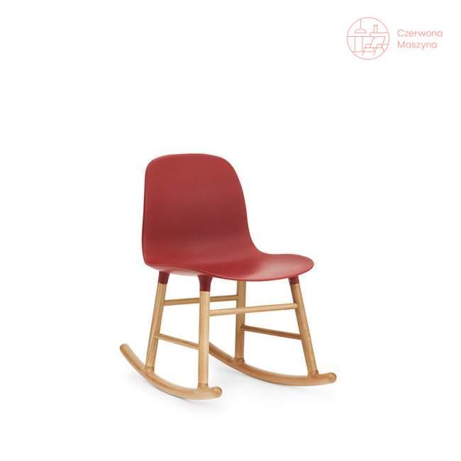 Krzesło bujane Normann Copenhagen Form dąb, czerwone