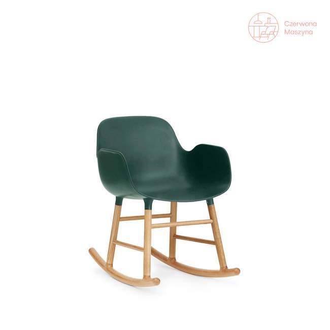 Fotel bujany Normann Copenhagen Form dąb, zielony