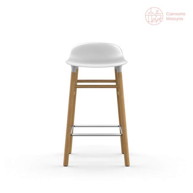 Krzesło barowe Normann Copenhagen Form 65 cm dąb, białe
