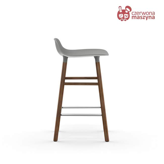 Krzesło barowe Normann Copenhagen Form 65 cm orzech, szare