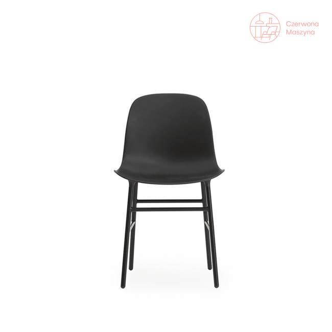 Krzesło Normann Copenhagen Form stal, czarne