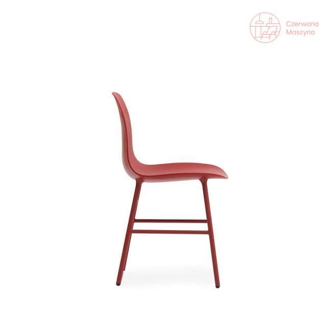 Krzesło Normann Copenhagen Form stal, czerwone
