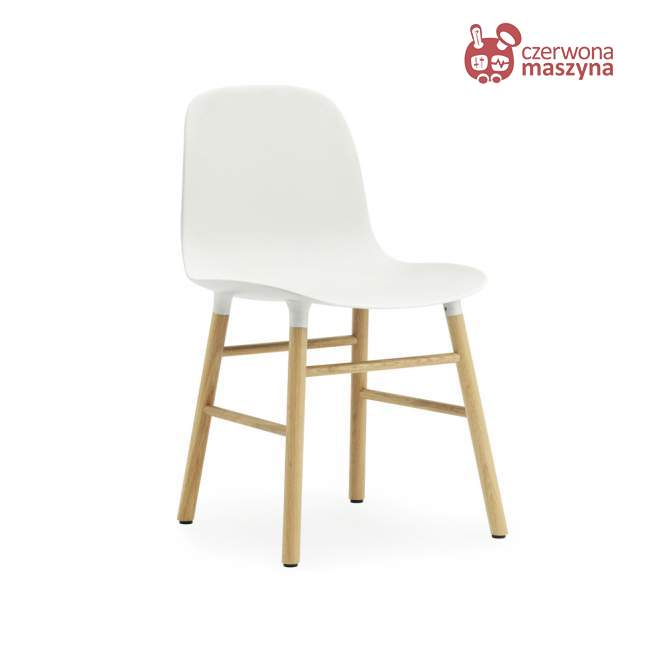 Krzesło Normann Copenhagen Form dąb, białe