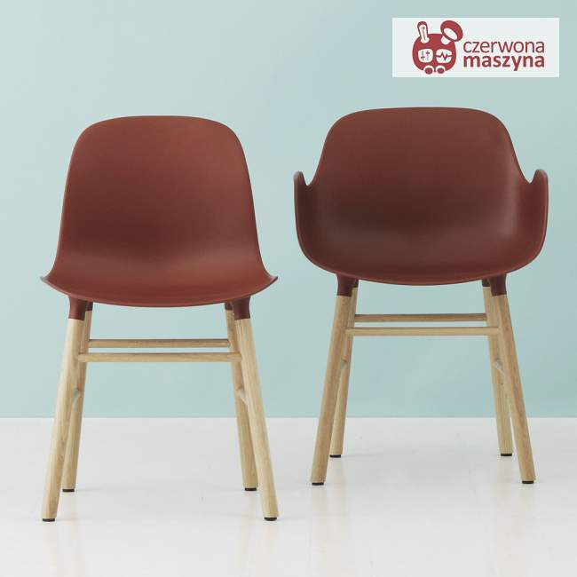 Krzesło Normann Copenhagen Form dąb, bordowe