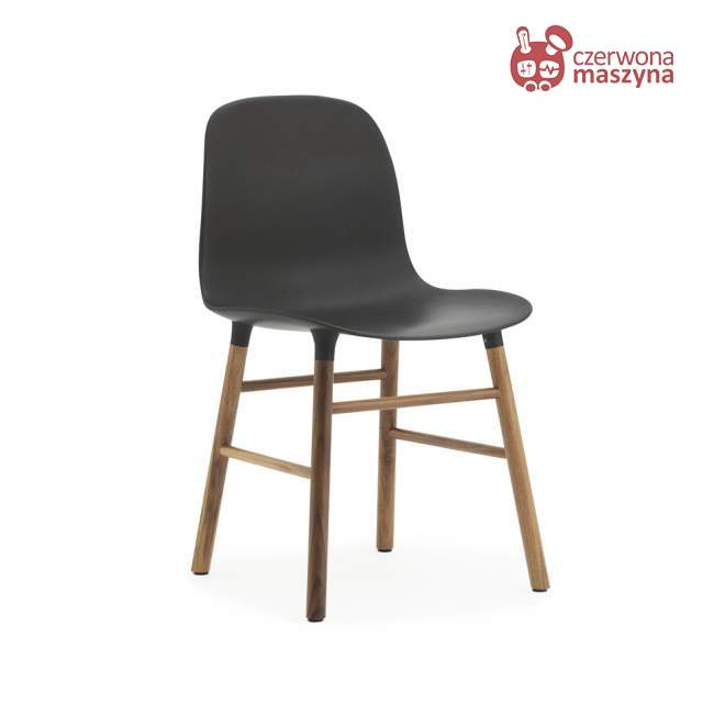 Krzesło Normann Copenhagen Form orzech, czarne