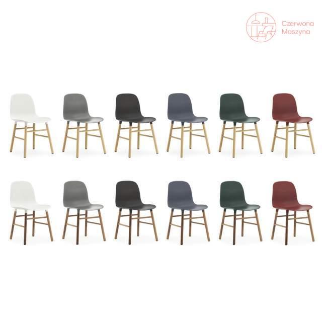 Krzesło Normann Copenhagen Form orzech, ciemnozielone