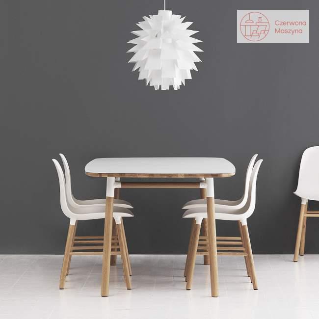 Stół Normann Copenhagen Form dąb 120 x 120 cm, biały