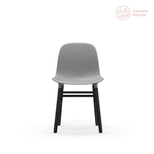 Krzesło Normann Copenhagen Form, szare z czarnymi nogami