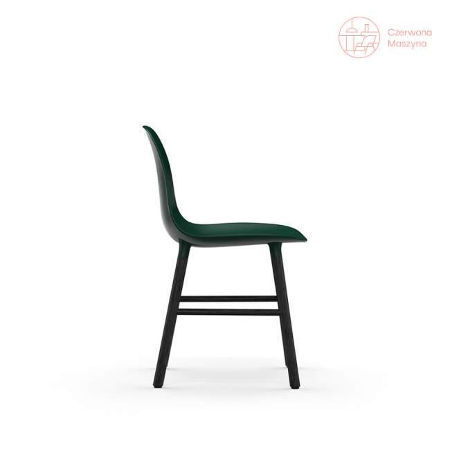 Krzesło Normann Copenhagen Form, zielone z czarnymi nogami