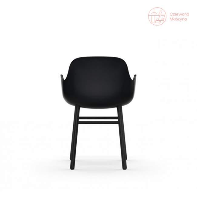 Fotel Normann Copenhagen Form, czarny z czarnymi nogami