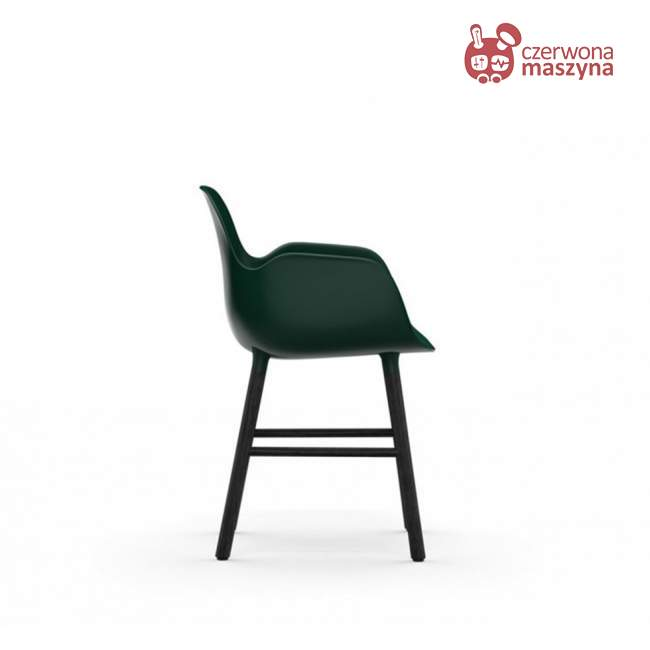 Fotel Normann Copenhagen Form, zielony z czarnymi nogami