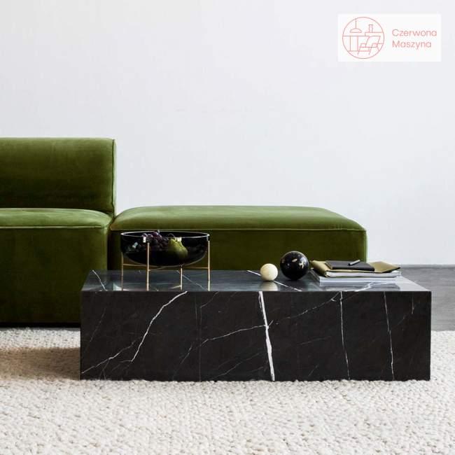 Stolik marmurowy Menu Plinth 100 x 60 x 27 cm, czarny