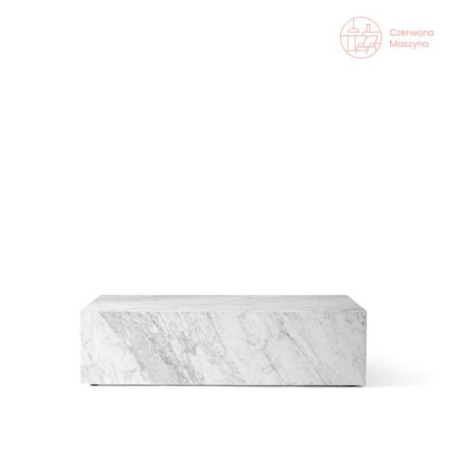 Stolik marmurowy Menu Plinth 100 x 60 x 27 cm, biały