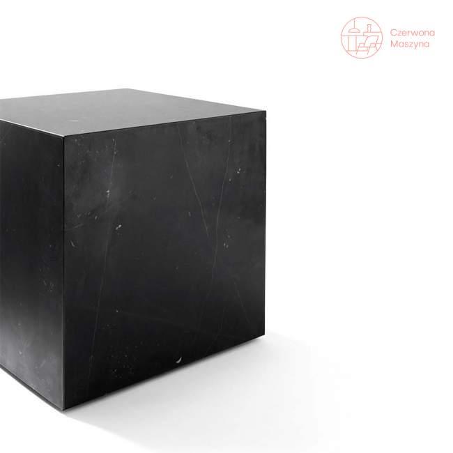 Stolik marmurowy Menu Plinth 40 x 40 x 40 cm, czarny