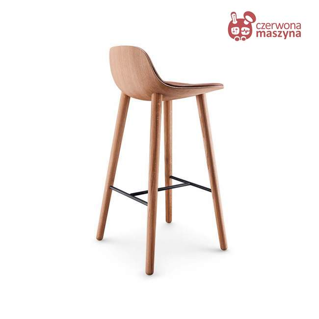 Krzesło barowe Eva Solo Abalone, 75 cm, oiled oak / cognac leather