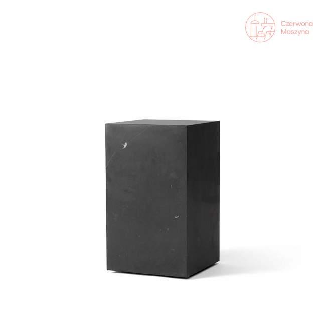 Stolik marmurowy Menu Plinth 30 x 30 x 51 cm, czarny