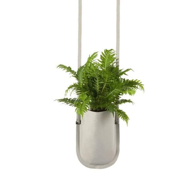 Donica Authentics Urban Garden Ø 15 cm beżowa, wisząca