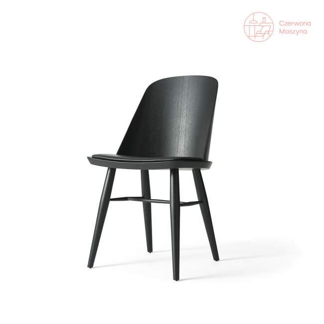 Krzesło Menu Synnes jesion i skóra, czarne