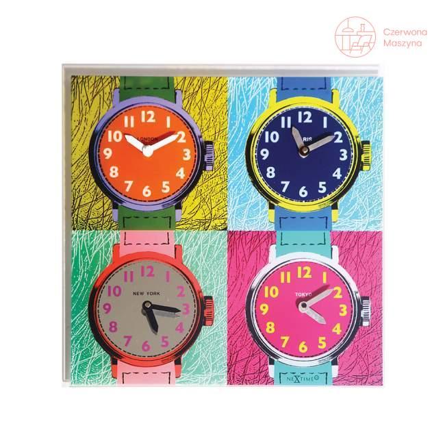 Zegar ścienny NeXtime Time Zones 43 cm