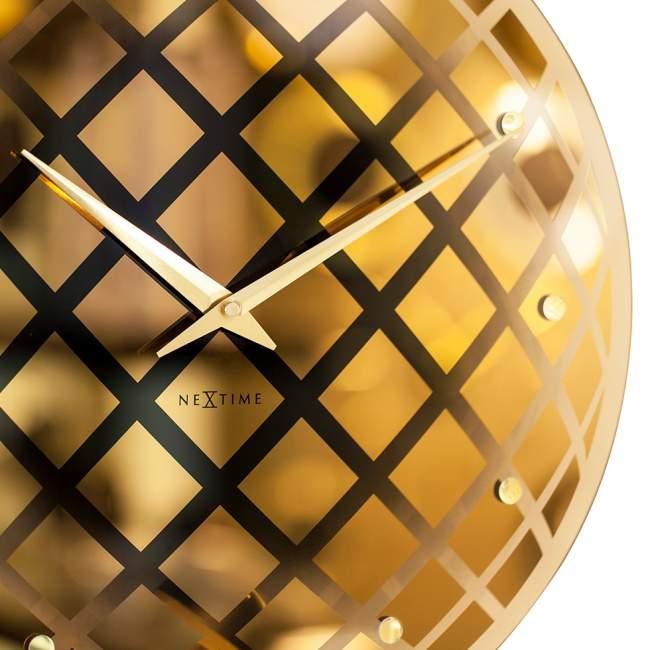 Zegar ścienny NeXtime Pendula Round Ø 43 cm, złoty