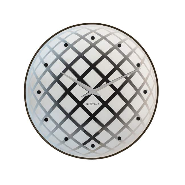 Zegar ścienny NeXtime Pendula Round Ø 43 cm, biały