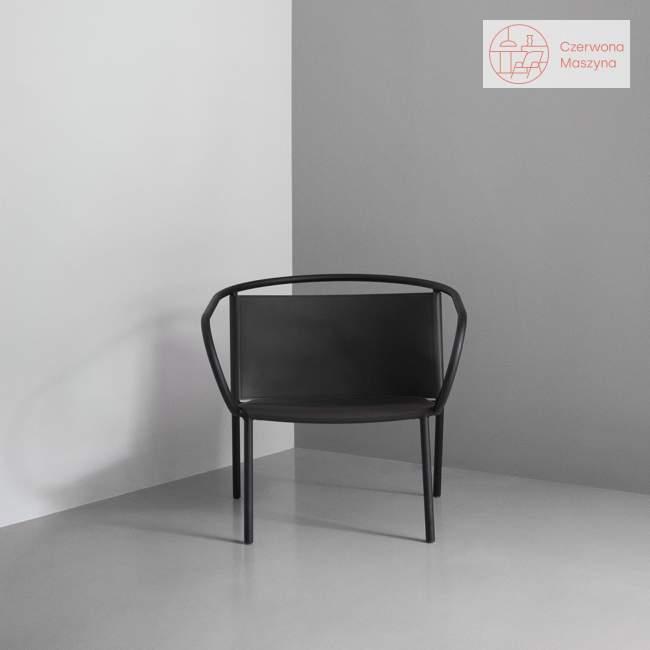 Fotel Menu Afteroom skóra CAMO Silk, czarny