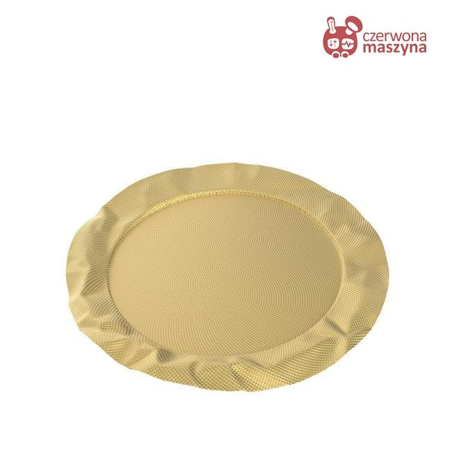 Taca okrągła Alessi Foix złota