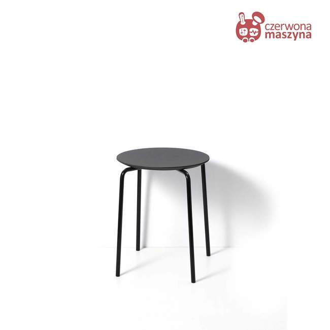 Taboret / stołek ferm Living Herman charcoal / black
