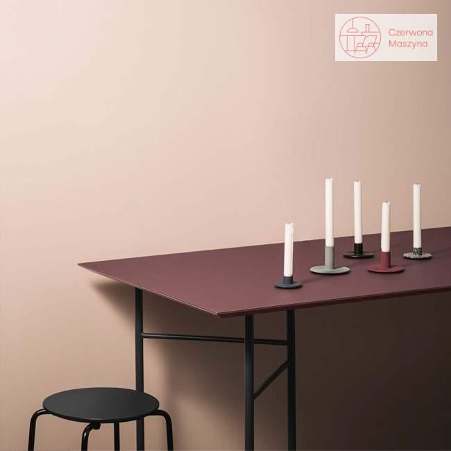 Taboret / stołek ferm Living Herman charcoal / black