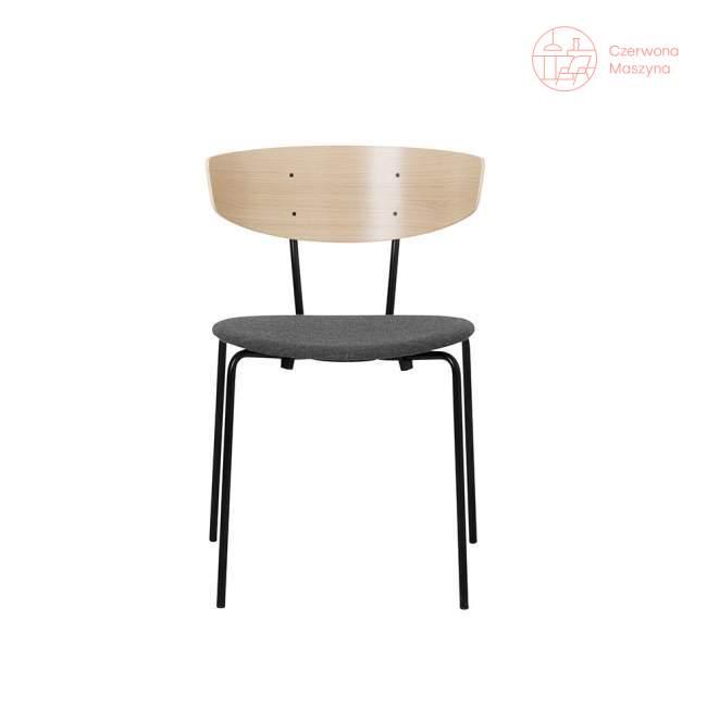 Krzesło tapicerowane ferm LIVING Herman, szare